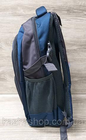 Школьный прочный, усиленный рюкзак Baohua, на несколько отделов, широкая молния, S-образные лямки, 28х43 см, фото 2