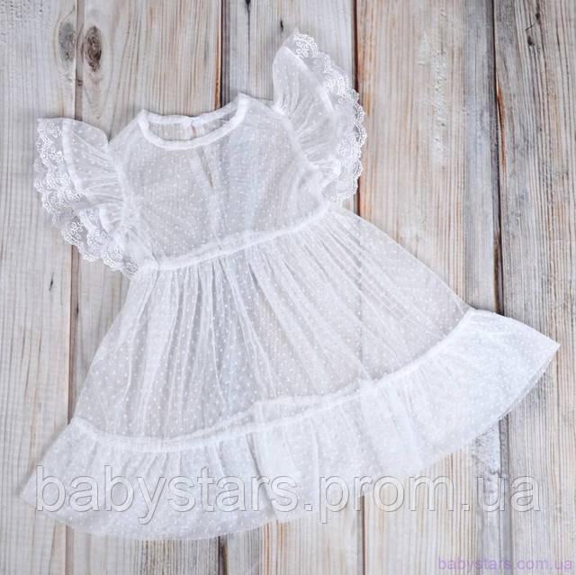 белое фатиновое платье для девочки из комплекта