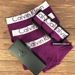 Набор 3 шт мужского нижнего белья Calvin Klein Steel боксеры реплика
