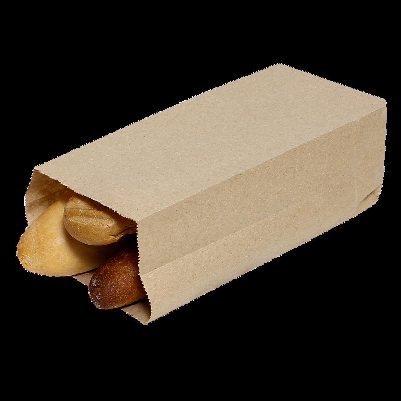 Пакет паперовий з прямокутним дном 170*120*280 100шт  Крафт (91)
