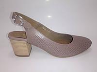 Женские кожаные босоножки на каблуке ТМ Камея, фото 1