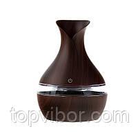 🔝 Настольный ультразвуковой USB увлажнитель воздуха (mini atomization humidifier) темное дерево | 🎁%🚚