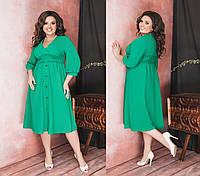 Платье женское миди Большого размера