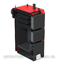 Твердотопливный котел длительного горения Kraft серия S 25 кВт с ручным управлением, фото 2