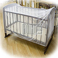 Москитная сетка для детской кроватки 120*60 h=70см универсальная альтернатива детского балдахина в кроватку