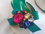 Босоножки на каблуке с камнями 36 р, фото 8