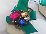 Босоножки на каблуке с камнями 36 р, фото 9