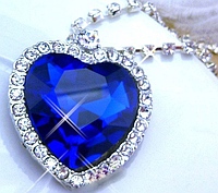 "Ожерелье ""Сердце океана"" с кристаллами опт"