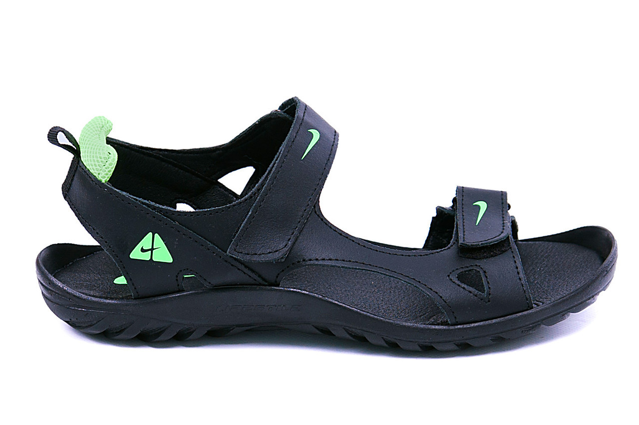6ee2d0c77494 Мужские кожаные сандалии Nike NS green (реплика)