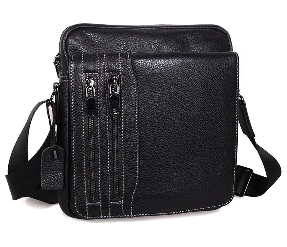 Мужская кожаная сумка Dovhani DL5156-3386 Черная