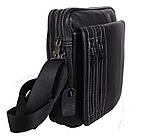 Мужская кожаная сумка Dovhani DL5156-3386 Черная, фото 2