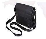 Мужская кожаная сумка Dovhani R0066 Черная, фото 4