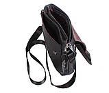 Мужская кожаная сумка Dovhani R0066 Черная, фото 10