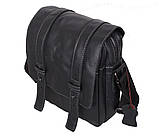 Мужская кожаная сумка Dovhani PRE15401 Черная, фото 2