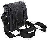 Мужская кожаная сумка Dovhani PRE15401 Черная, фото 4