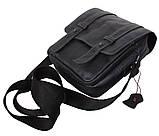 Мужская кожаная сумка Dovhani PRE15401 Черная, фото 8