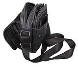 Мужская кожаная сумка Dovhani PRE15401 Черная, фото 10
