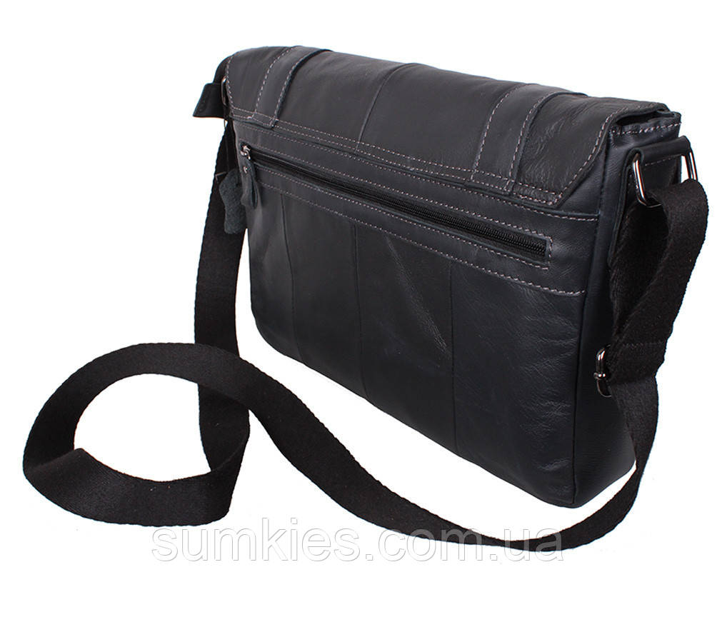 4c2ebff5667a Мужская кожаная сумка A4 Dovhani PRE18628 Черная: продажа, цена в ...