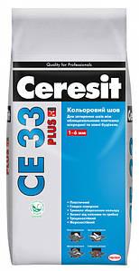 Цветной шов между плиткой Ceresit белый 5 кг CE 33 Plus