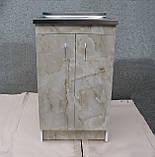 Мийка з тумбою 50х50 накладна (глибока), фото 4