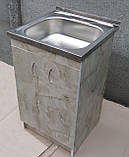 Мийка з тумбою 50х50 накладна (глибока), фото 2