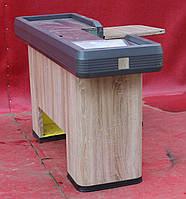 Кассовый бокс c узким накопителем 150х100 см., желтый/правый (Украина) Б/у, фото 1