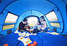 Автоматическая туристическая водонепроницаемая палатка / тент для кемпинга 3-4 чел., фото 8