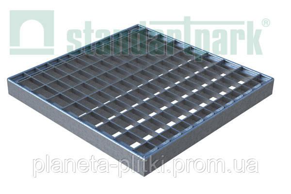 Решетка к дождеприемнику PolyMax Basic 28.28 ячеистая пластиковая серая - BudUA в Киеве