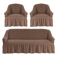 Чехлы универсальные на диван и два кресла