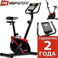 Магнітний велотренажер Hop-Sport HS-2070 Onyx red до 120 кг. Вертикальний. Німеччина