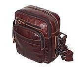Мужская кожаная сумка Dovhani PRE5262-125 Коричневая, фото 2