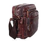 Мужская кожаная сумка Dovhani PRE5262-125 Коричневая, фото 3