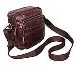 Мужская кожаная сумка Dovhani PRE5262-125 Коричневая, фото 4