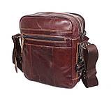 Мужская кожаная сумка Dovhani PRE5262-125 Коричневая, фото 5