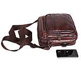 Мужская кожаная сумка Dovhani PRE5262-125 Коричневая, фото 7