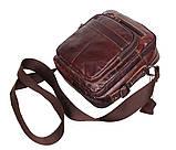 Мужская кожаная сумка Dovhani PRE5262-125 Коричневая, фото 8
