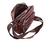 Мужская кожаная сумка Dovhani PRE5262-125 Коричневая, фото 9