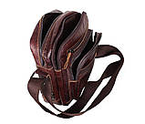 Мужская кожаная сумка Dovhani PRE5262-125 Коричневая, фото 10