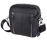 Мужская кожаная сумка Dovhani T3012888 Черная, фото 4