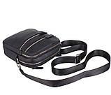 Мужская кожаная сумка Dovhani T3012888 Черная, фото 7