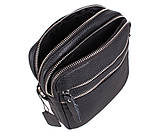 Мужская кожаная сумка Dovhani T3012888 Черная, фото 8