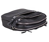 Мужская кожаная сумка Dovhani T3012888 Черная, фото 9