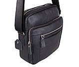 Мужская кожаная сумка Dovhani T2016666 Черная, фото 6