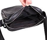 Мужская кожаная сумка Dovhani T2016666 Черная, фото 8