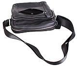 Мужская кожаная сумка Dovhani T2016666 Черная, фото 9