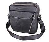Мужская кожаная сумка Dovhani T3019889 Черная, фото 2