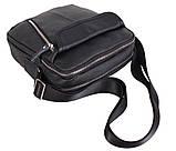 Мужская кожаная сумка Dovhani T3019889 Черная, фото 3