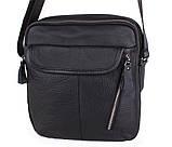 Мужская кожаная сумка Dovhani T3019889 Черная, фото 5
