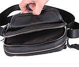 Мужская кожаная сумка Dovhani T3019889 Черная, фото 9