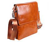 Мужская кожаная сумка Dovhani WHEAT007-55 Рыжая, фото 2